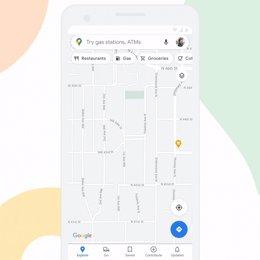 Interfaz actualizada de Google Maps