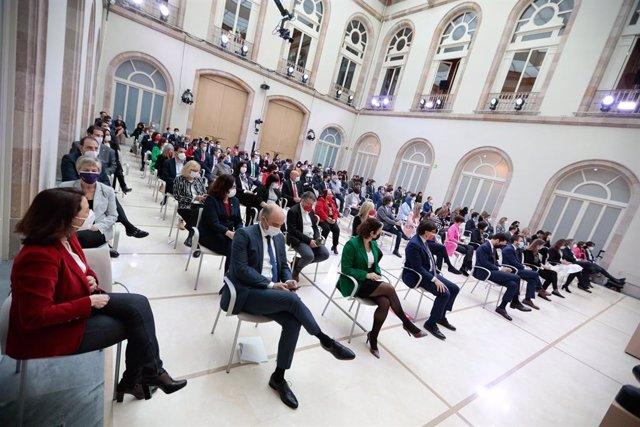 Pla general de l'auditori del Parlament durant el ple de constitució de la XIII legislatura el 12 de març del 2021.