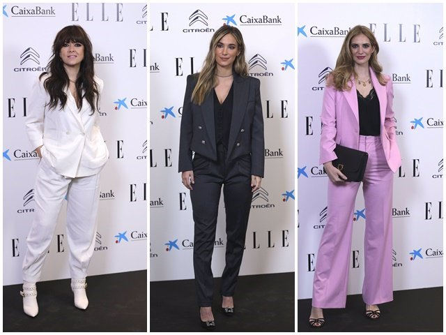 Vanesa Martín, María Pombo y Teresa Baca en la alfombra roja de los Elle Women Awards