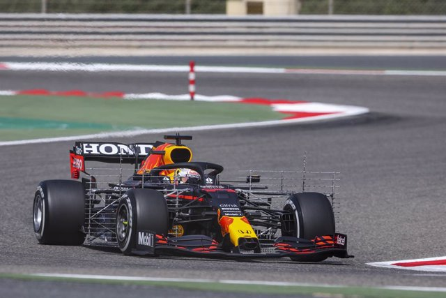 33 VERSTAPPEN Max (nld), Red Bull Racing Honda RB16B, action during the Formula 1 Pre-season testing 2020 from March 12 to 14, 2021 on the Bahrain International Circuit, in Sakhir, Bahrain - Photo Antonin Vincent / DPPI