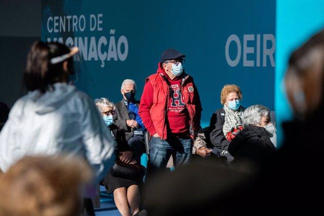 Centro de vacunación en el municpio de Oeiras, en Lisboa.