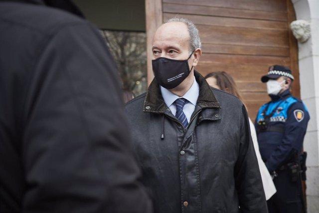 Archivo - El ministro de Justicia, Juan Carlos Campo, en Navarra.