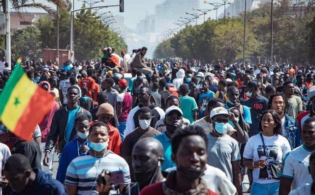 Protestas en Senegal por la situación política del país