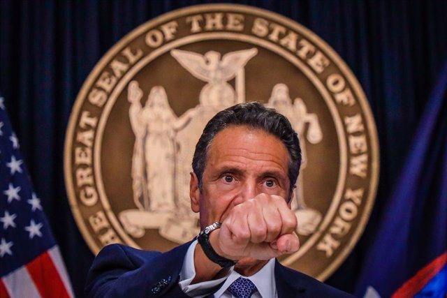 Archivo - 01 July 2020, US, New York: New York Governor Andrew Cuomo speaks during a a press conference to comment on the latest updates regarding coronavirus and the black live matters protests. Photo: Vanessa Carvalho/ZUMA Wire/dpa