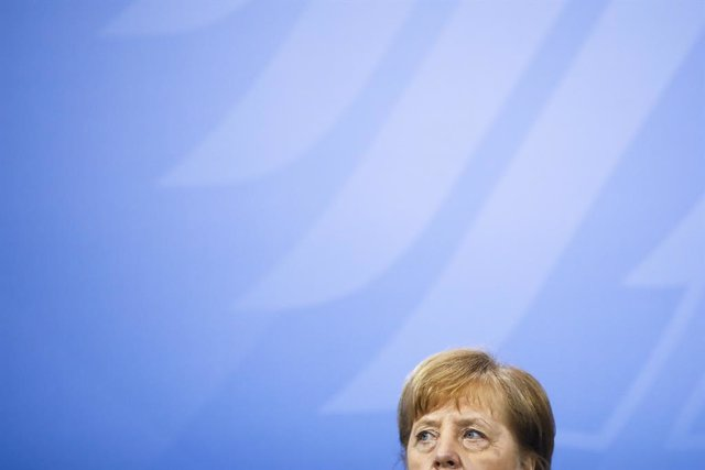 09 March 2021, Berlin: German Chancellor Angela Merkel attends a press conference following the 13th Integration Summit at the Chancellery. Photo: Markus Schreiber/AP POOL/dpa