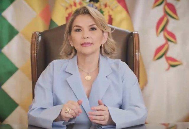 Archivo - La autoproclamada presidenta de Bolivia, Jeanine Áñez