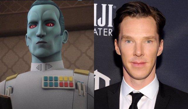 """Benedict Cumberbatch pasa de Thrawn y The Mandalorian: """"No quiero volverme azul"""""""