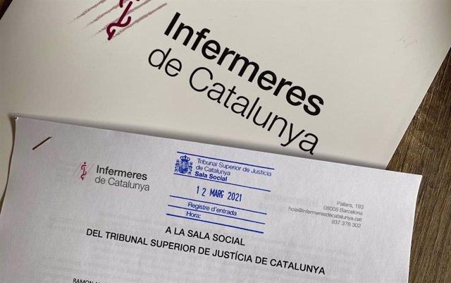 Demanda d'Infermeres de Catalunya presentada al TSJC.