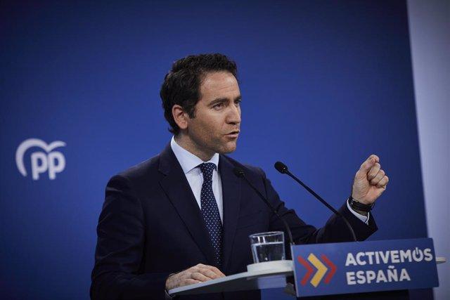 El secretario general del Partido Popular, Teodoro García Ejea