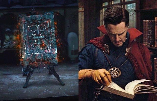 WandaVision: Doctor Strange estudia el Darkhold en este genial fan art