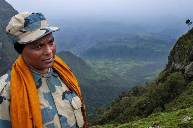 Archivo - Policía en la región de Amhara, Etiopía