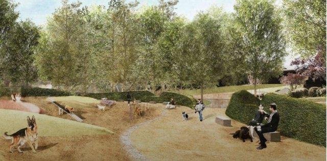 El Parc de l'Estació del Nord de Barcelona tindrà un àrea d'esbarjo per a gossos