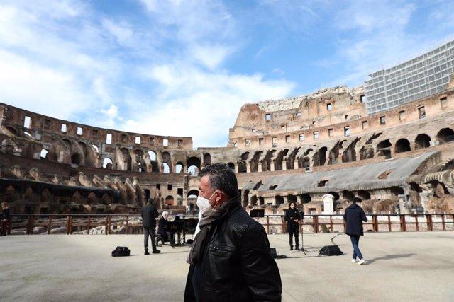 Concierto en el Coliseo de Roma.