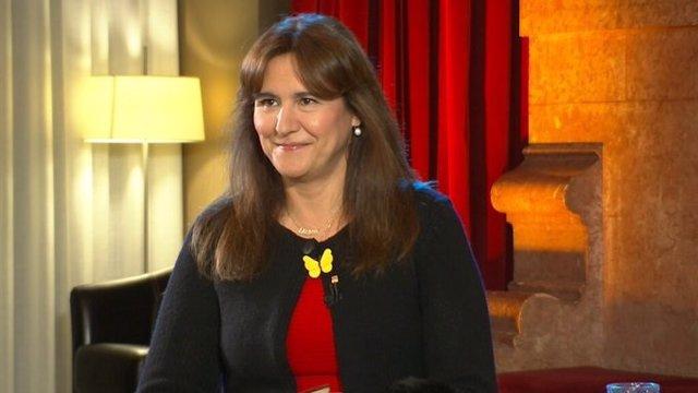 Laura Borràs, presidenta del Parlament, entrevistada en TV3