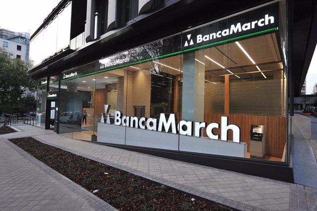 Archivo - Oficina de Banca March en Calle Juan Bravo, 3 (Madrid)