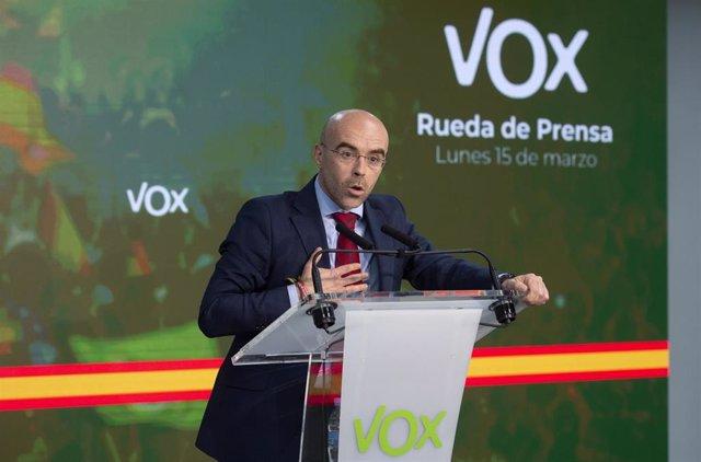 El vicepresidente de Acción Política y eurodiputado de Vox, Jorge Buxadé