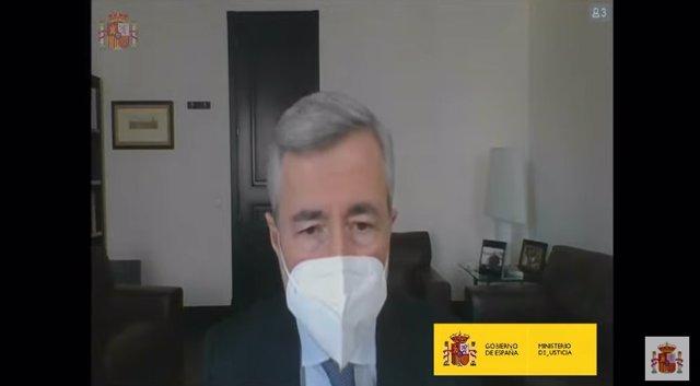 El exsecretario General del Partido Popular, Ángel Acebes, comparece por videoconferencia en la Audiencia Nacional por la presunta caja B del PP