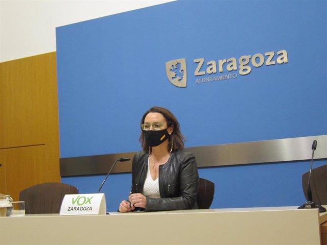 La concejal del grupo municipal de VOX en el Ayuntamiento de Zaragoza, Carmen Rouco