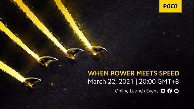 Cartel del evento de lanzamiento