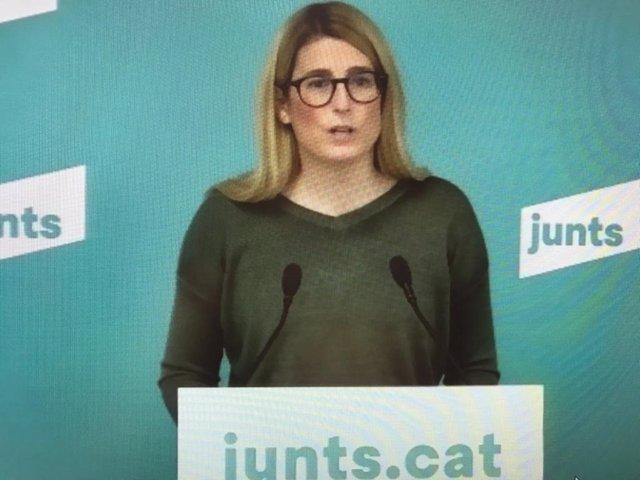 La vicepresidenta de Junts, Elsa Artadi