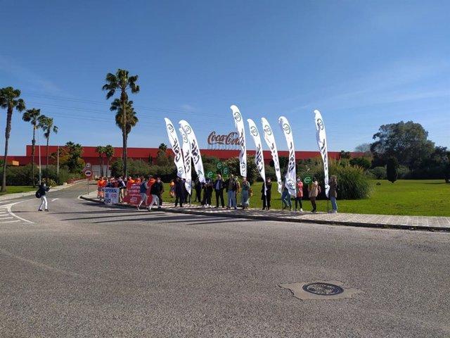 Paro en la fábrica de Coca-Cola de Sevilla.