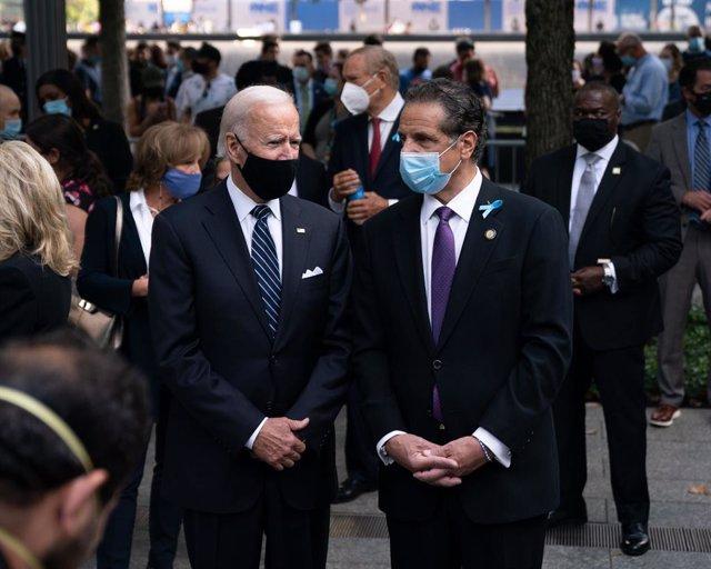 El presidente  de EEUU, Joe Biden, y el gobernador de Nueva York, Andrew Cuomo.
