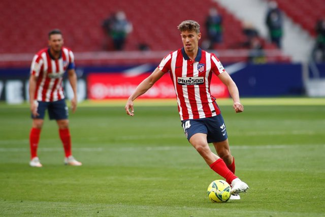 Marcos Llorente of Atletico de Madrid in action during the spanish league, La Liga Santander, football match played between Atletico de Madrid and Real Madrid at Wanda Metropolitano stadium on March 7, 2021, in Madrid, Spain.