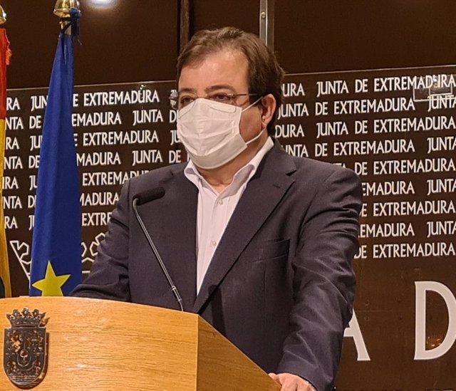 El presidente de la Junta, Guillermo Fernández Vara, en una imagen de archivo