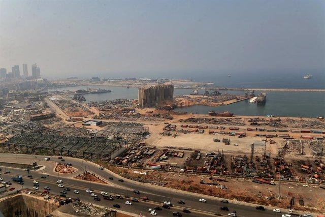 Archivo - Daños materiales causados por las explosiones del 4 de agosto en el puerto de la capital de Líbano, Beirut