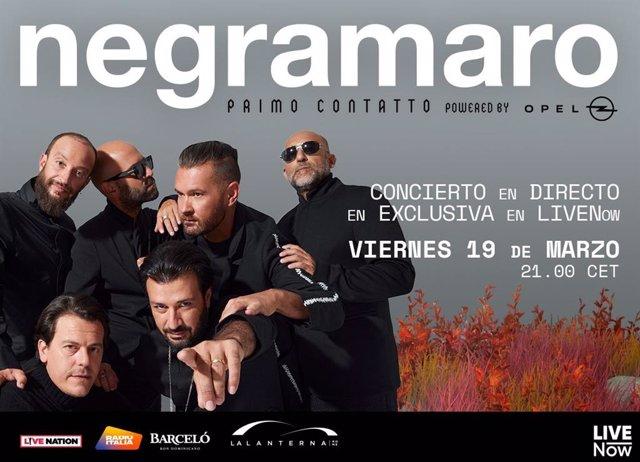 El grupo italiano Negramaro ofrecerá un concierto en streaming