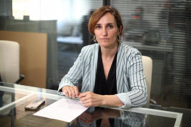 Archivo - La recién elegida líder de Más Madrid en la Comunidad de Madrid, Mónica García, durante una entrevista para Europa Press, en Madrid (España) a 17 de julio de 2020.
