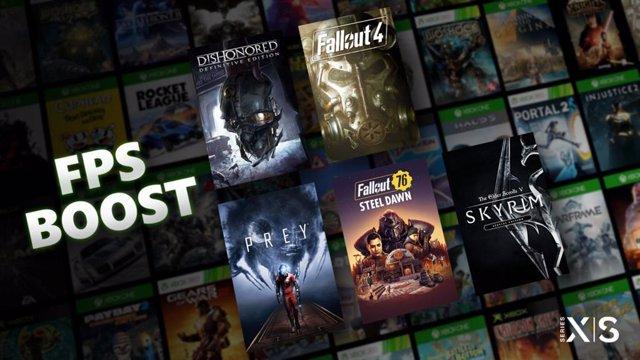 FPS potenciados en Xbox Series X y S para cinco videojuegos de Bethesda.