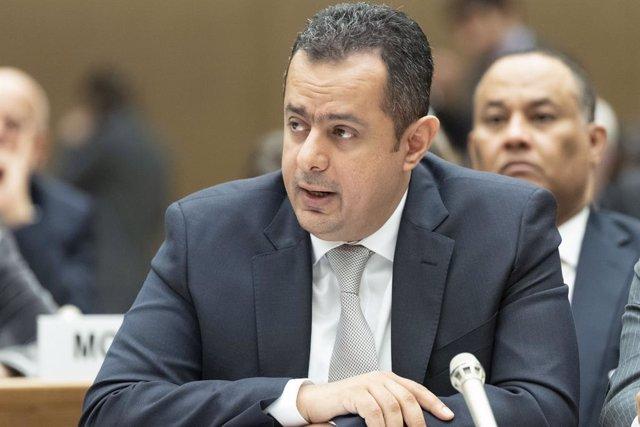 Archivo - El primer ministro del Gobierno de Yemen reconocido internacionalmente, Main Abdulmalik