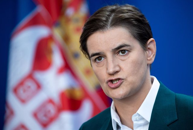 Archivo - FILED - 18 September 2019, Berlin: Ana Brnabic, Prime Minister of Serbia, speaks during a press conference with German Chancellor Merkel (not pictured). Ana Brnabic will serve as Serbian prime minister for another term, President Aleksandar Vuci