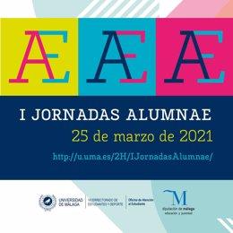 Cartel de las las Jornadas Alumnae