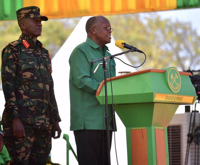 Archivo - El presidente de Tanzania, John Magufuli