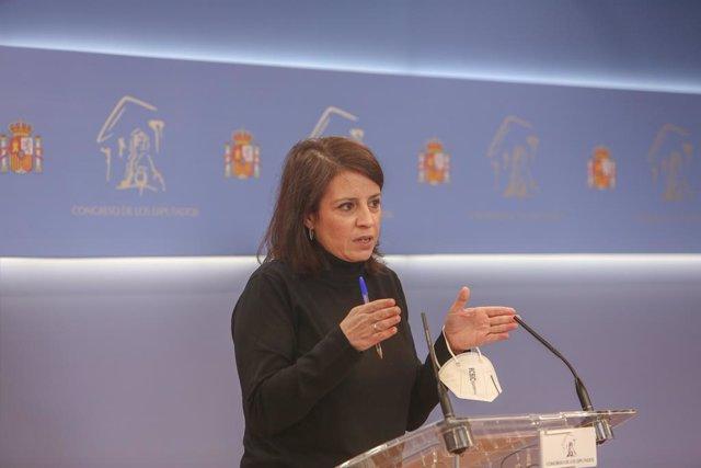 La portaveu parlamentària del PSOE, Adriana Lastra