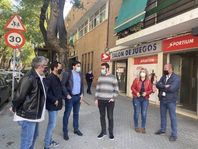 Representantes de Izquierda Unida, del PCE y de la Juventud Comunista de Andalucía