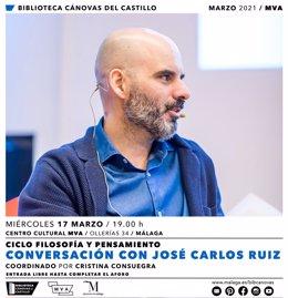 José Carlos Ruiz y su 'Filosofía ante el desánimo' abre el ciclo 'Filosofía y Pensamiento' de la Diputación de Málaga este 17 de marzo