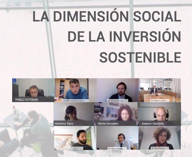 Encuentro para la presentación del informe de Spainsif 'La dimensión social de la inversión sostenible'.