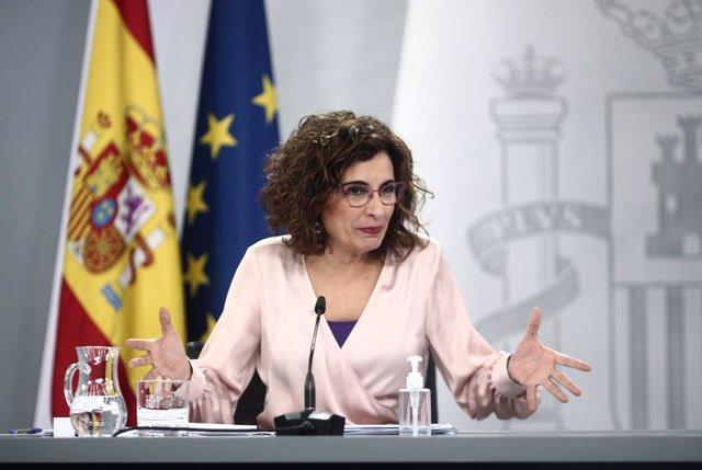 La ministra d'Hisenda i portaveu del Govern central, María Jesús Montero (Arxiu)