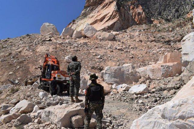Imagen de archivo de una galería minera en Pakistán