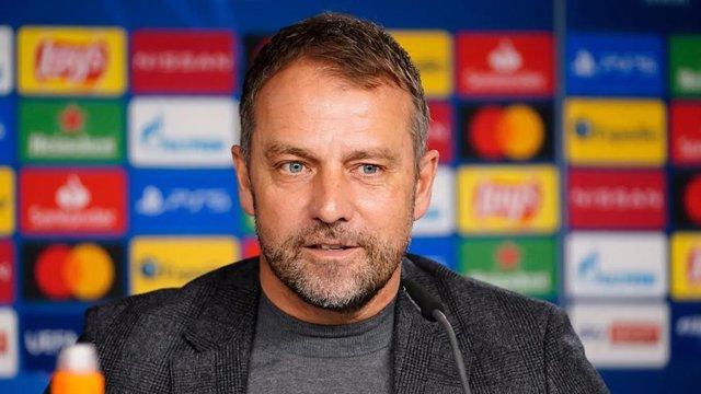 El entrenador del Bayern de Múnich, Hansi Flick, en rueda de prensa de Liga de Campeones