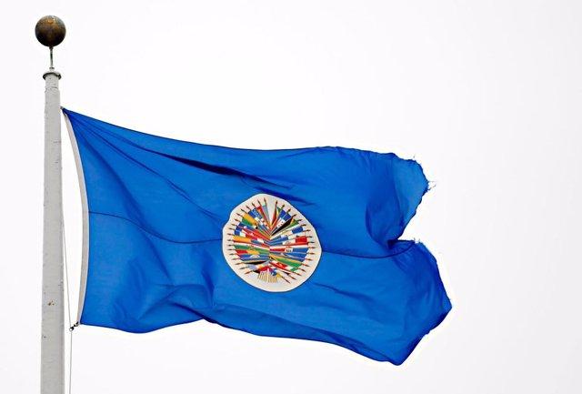 Archivo - Bandera de la OEA