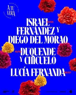 Programa del cicle de concerts 'A tu vera', que suspèn les actuacions 'Cantaoras' i 'Serrat Flamenc@'