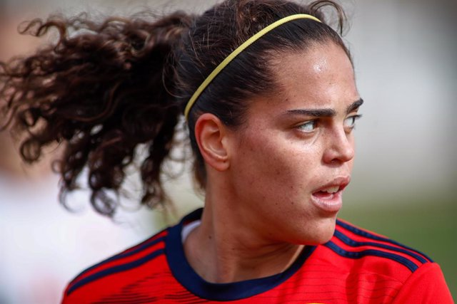 Archivo - Andrea Sanchez Falcon, player of Women's Spain Team, during the training day of the Women Spain Team at Ciudad del Futbol of Las Rozas on November 07, 2019, in Madrid, Spain.