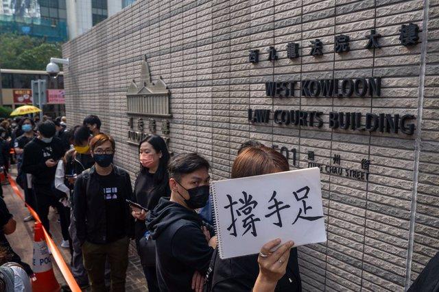 Imagen de protestas en Hong Kong.