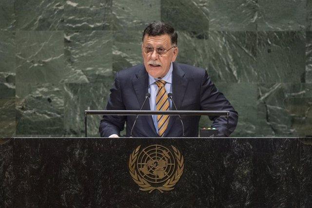 Archivo - El primer ministro del gobierno de unidad de Libia, Fayez Serraj