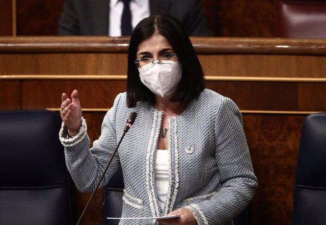 Archivo - La ministra de Sanidad, Carolina Darias.