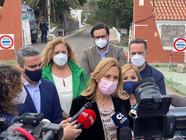 La vicesecretaria de Organización del Partido Popular, Ana Beltrán, este miércoles en el CATE de Barranco Seco (Gran Canaria)